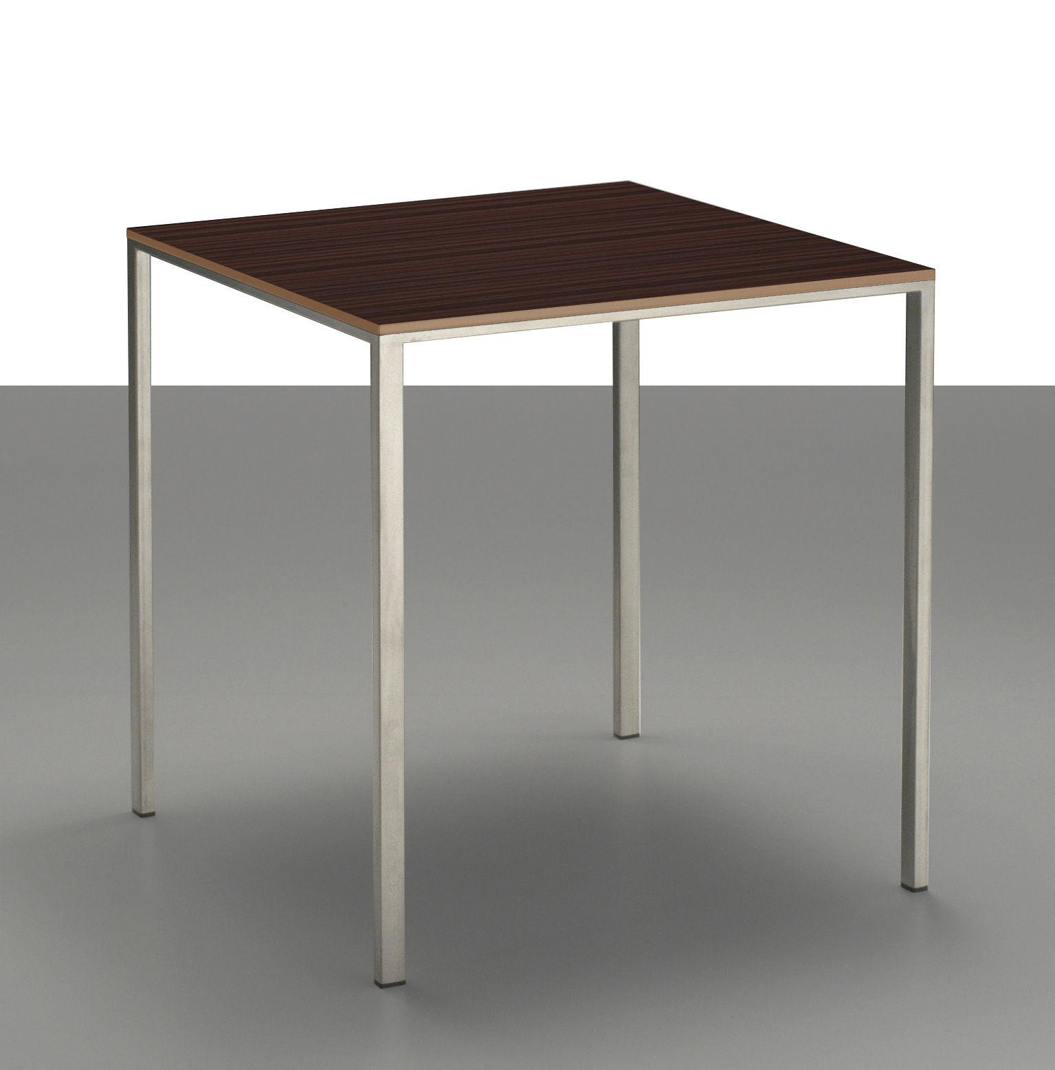 Mini tavolo inox tavolo piano weng 99 x 99 cm weng for Tavolo wenge