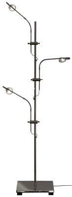 Leuchten - Tischleuchten - Wa Wa Tischleuchte H 80 cm - Catellani & Smith - Silberfarben - Cuivre plaqué nickel, Métal plaqué nickel