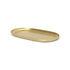 Basho Tray - Oval / Brass - 17 x 8 cm by Ferm Living