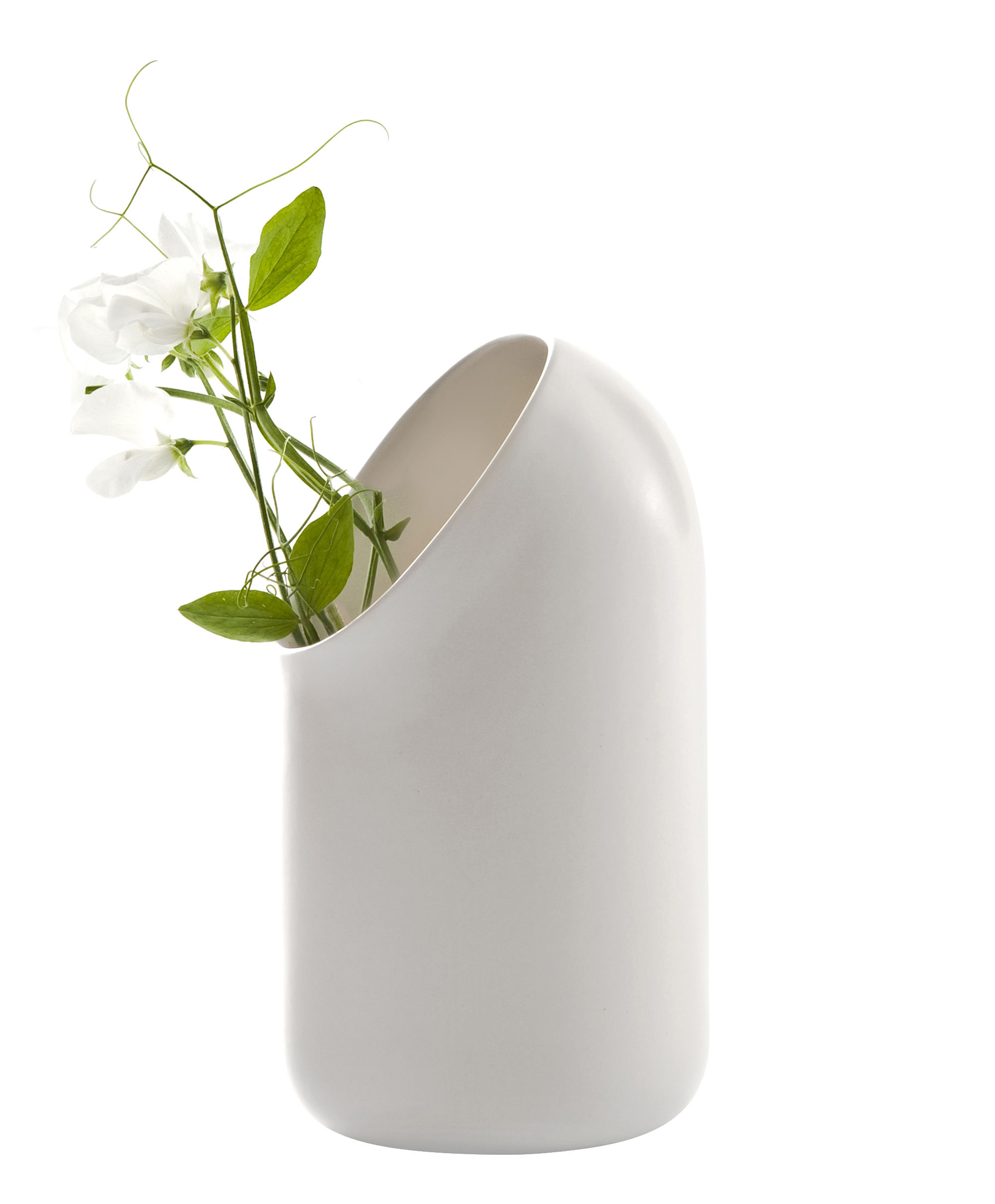 Decoration - Vases - Ô Vase by Moustache - Vase - Ecru - Enamled terracotta