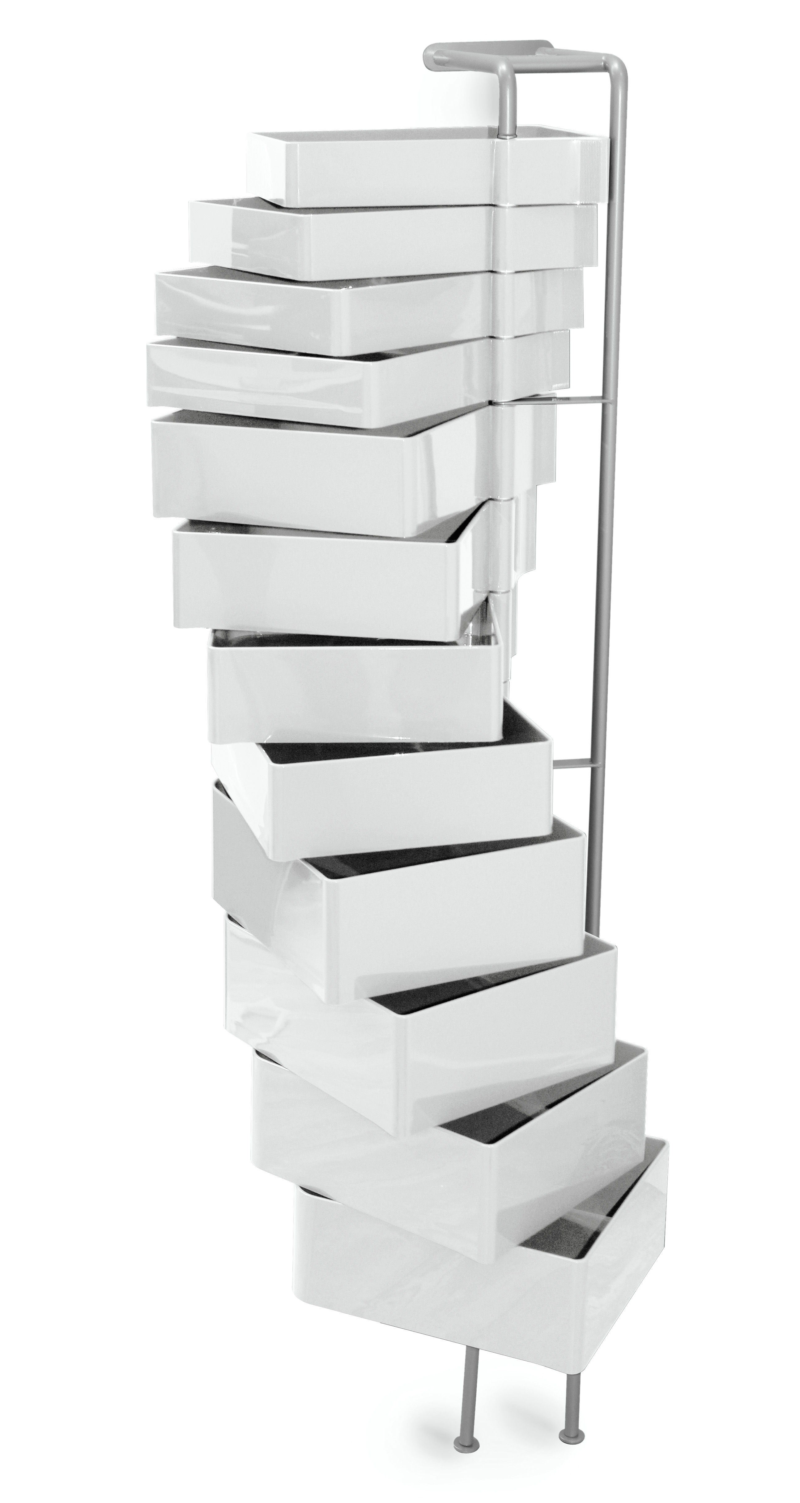 Furniture - Shelves & Storage Furniture - Spinny Wall storage by B-LINE - White - ABS, Varnished steel
