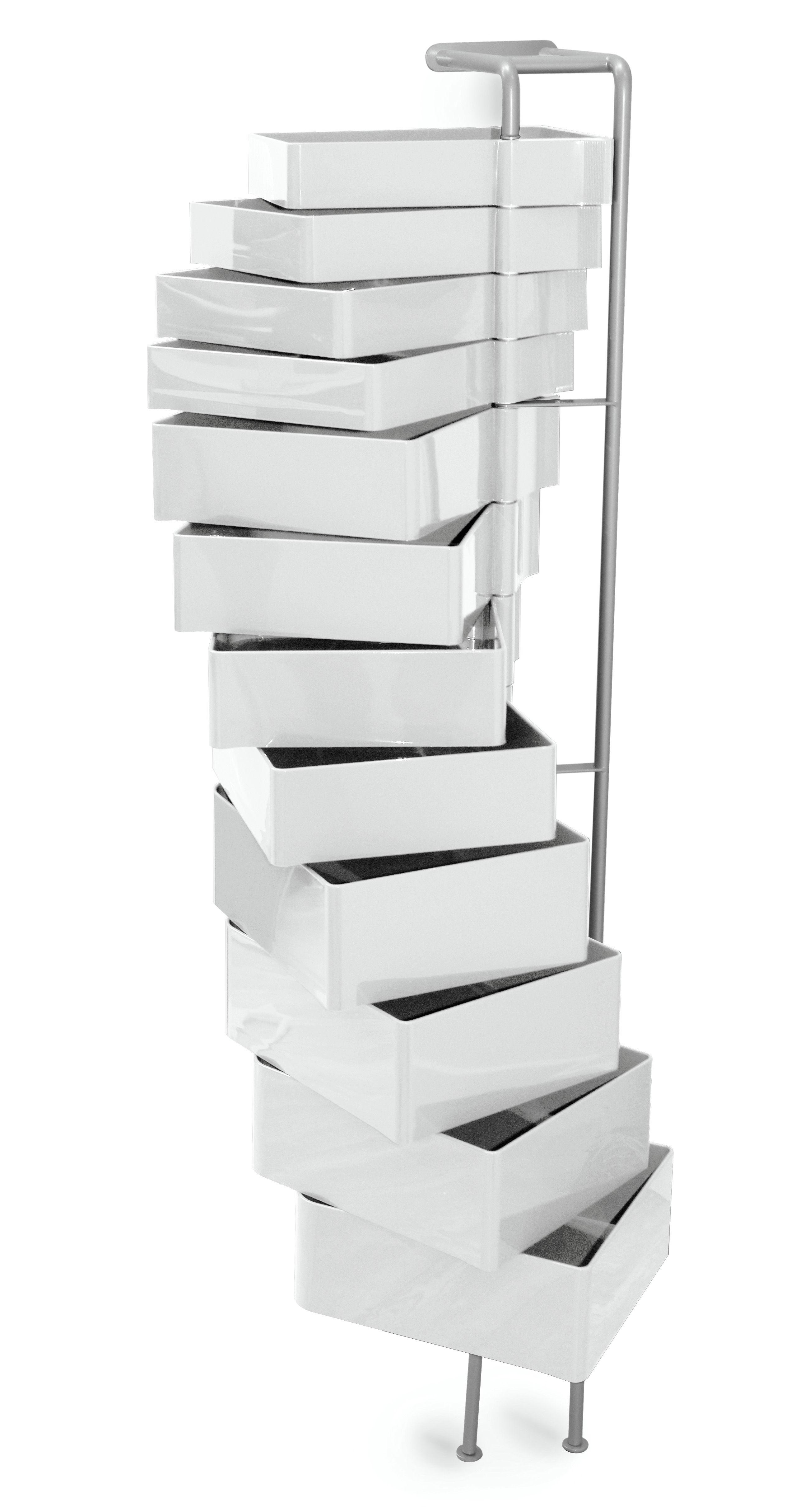 Möbel - Aufbewahrungsmöbel - Spinny Wandablage - B-LINE - Weiß - ABS, gefirnister Stahl