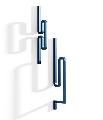 Möbel - Garderoben und Kleiderhaken - Zag Wandhaken / 2er-Set - Stahl - La Chance - Blau - bemalter Stahl