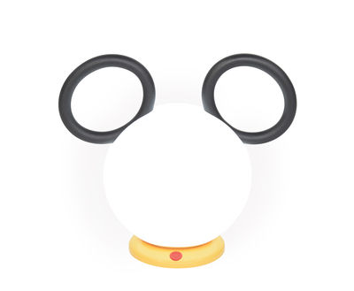 Decoration - Children's Home Accessories - Mickey Wireless lamp - / USB recharge by Fermob - Licorice - Aluminium, Polythene
