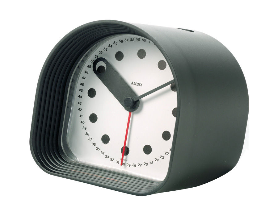 Decoration - Radios and alarm clocks - Optic Alarm clock by Alessi - Black - ABS