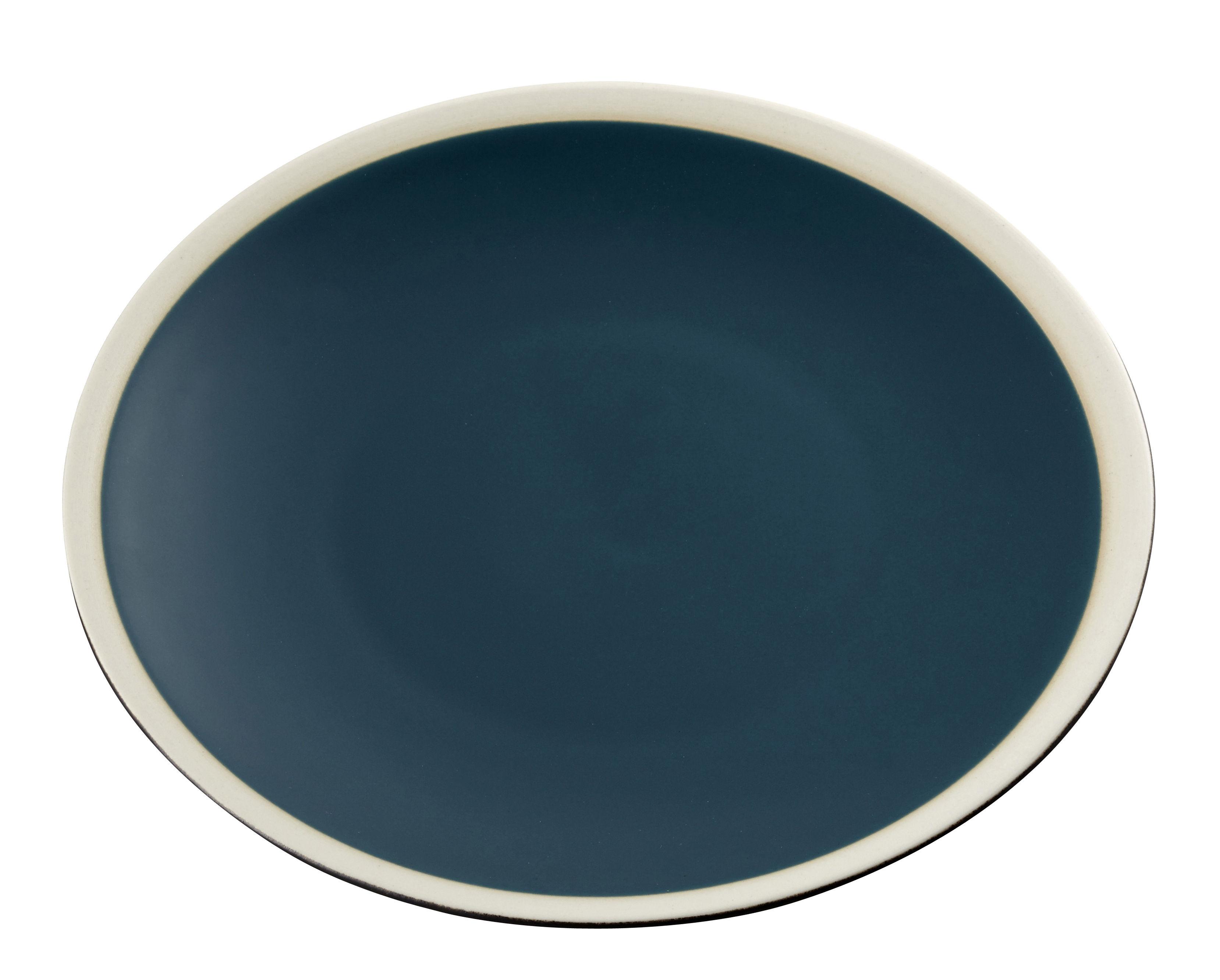 Arts de la table - Assiettes - Assiette Sicilia / Ø 26 cm - Maison Sarah Lavoine - Bleu Sarah / Blanc - Grès peint et émaillé