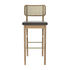 Cannage Bar stool - / H 65 cm - Fabric by RED Edition