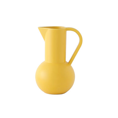 Tableware - Water Carafes & Wine Decanters - Strøm Small Carafe - / H 20 cm - Handmade ceramic by raawii - Freesia yellow - Ceramic