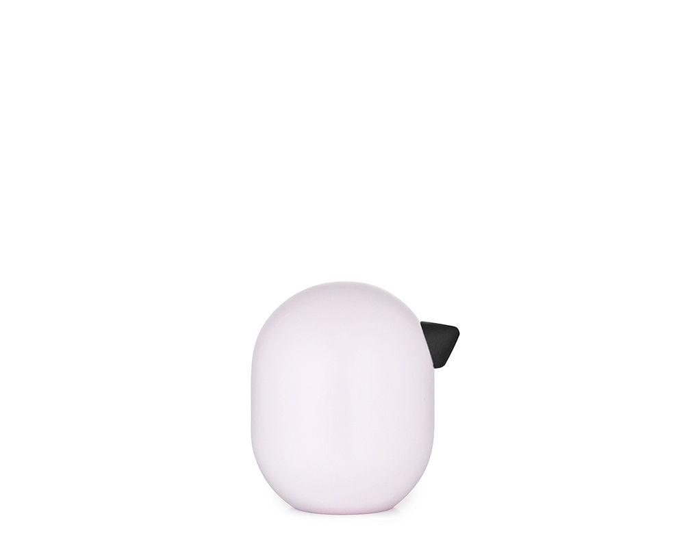 Déco - Pour les enfants - Figurine Little Bird / H 3 x Ø 2,5 cm - Normann Copenhagen - Rose pâle - Chêne laqué