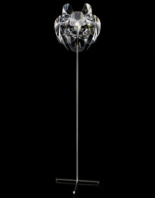 Lighting - Floor lamps - Hope Floor lamp - / Simple leg - H 184 cm by Luceplan - Transparent - Polished stainless steel, Polycarbonate