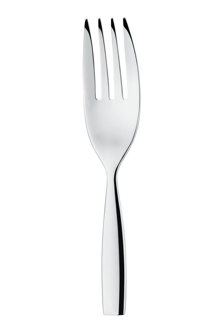 Tavola - Posate da portata - Forchetta da portata Dressed - L 25 cm di Alessi - Forchetta da servizio- Acciaio - Acciaio inossidabile