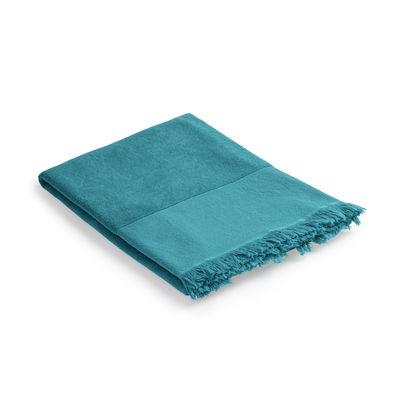 Fouta /  Serviette de bain - 93x 165 cm - Coton - Au Printemps Paris bleu en tissu