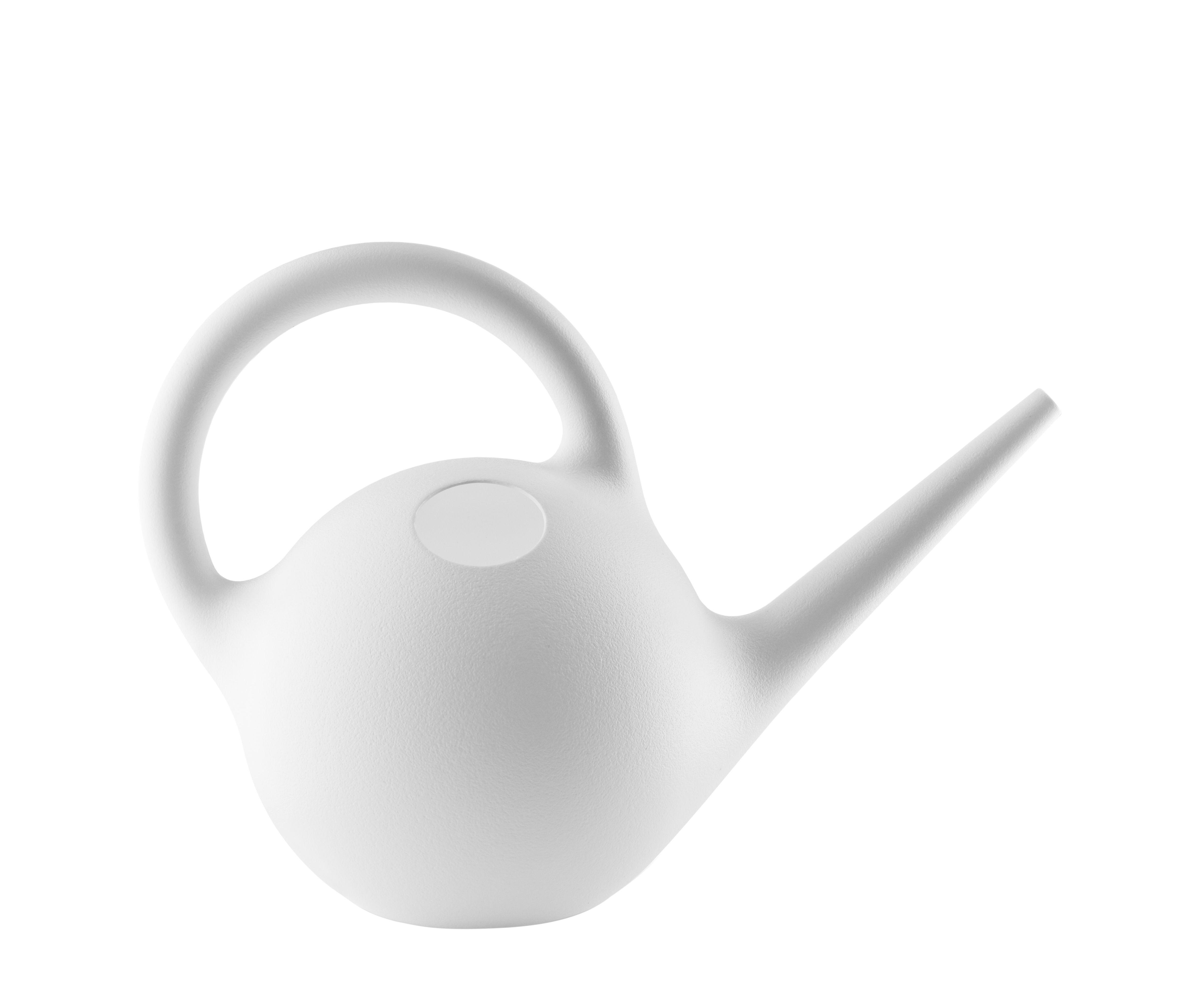 Outdoor - Töpfe und Pflanzen - Globe Gießkanne / 2.5 L - Eva Solo - Weiß - Plastik, rostfreier Stahl