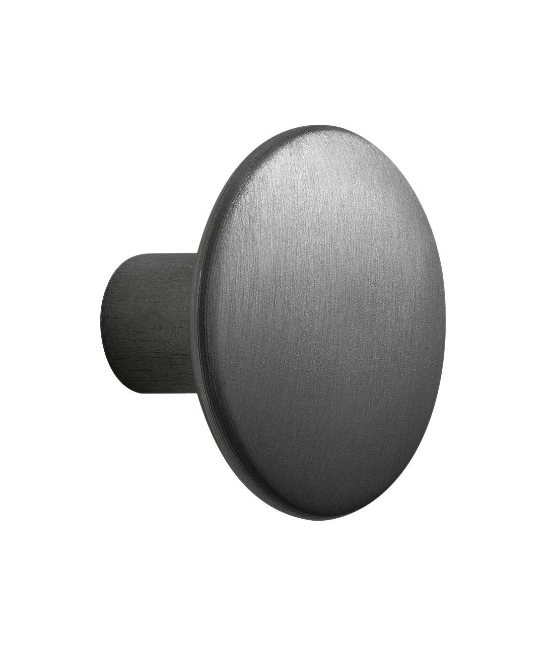 Furniture - Coat Racks & Pegs - The Dots Metal Hook - Medium - Ø 3,9 cm by Muuto - Black - Painted steel
