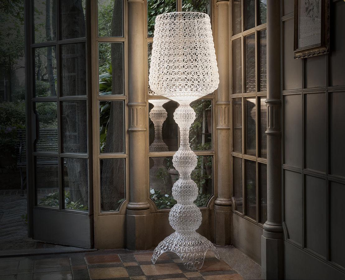 Lampadario Bianco Opaco : Scopri lampada a stelo kabuki indoor led h cm bianco