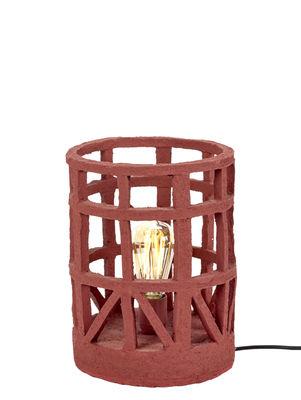 Illuminazione - Lampade da tavolo - Lampada da tavolo Marie - / Carta riciclata - Dimensione S di Serax - Rosso / Dimensione S - Cartapesta riciclata