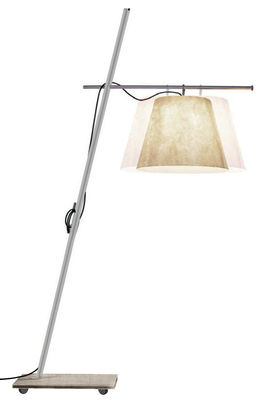 Luminaire - Lampadaires - Lampadaire Miami F3 H 230 / 255 cm - Antonangeli - Écru - Acier inoxydable, Fibre de verre, Granit