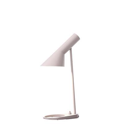 Lampe de table AJ Mini (1960) / H 43 cm - Louis Poulsen rose pâle en métal