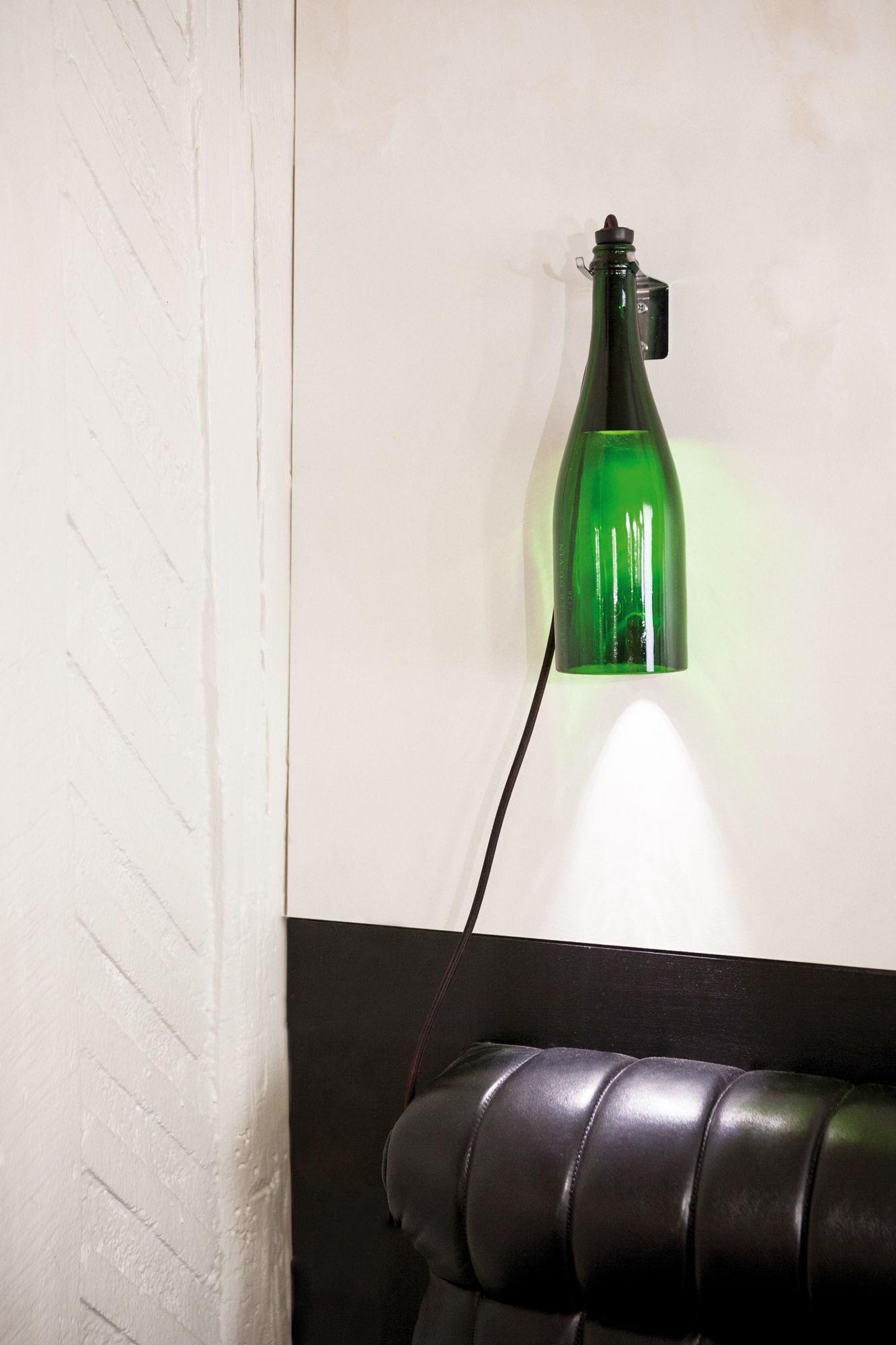 Table Lampe Du Bouteille Vin Applique Led De Torche L'atelier MSVUzp