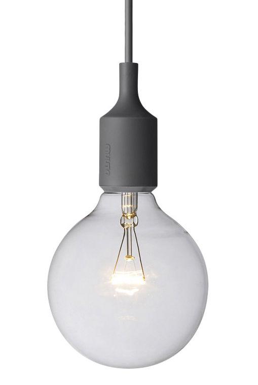 Lighting - Pendant Lighting - E27 Pendant by Muuto - Dark grey - Silicone