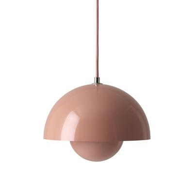 Lighting - Pendant Lighting - FlowerPot VP1 Pendant - Ø 23 cm by &tradition - Pink - Lacquered aluminium