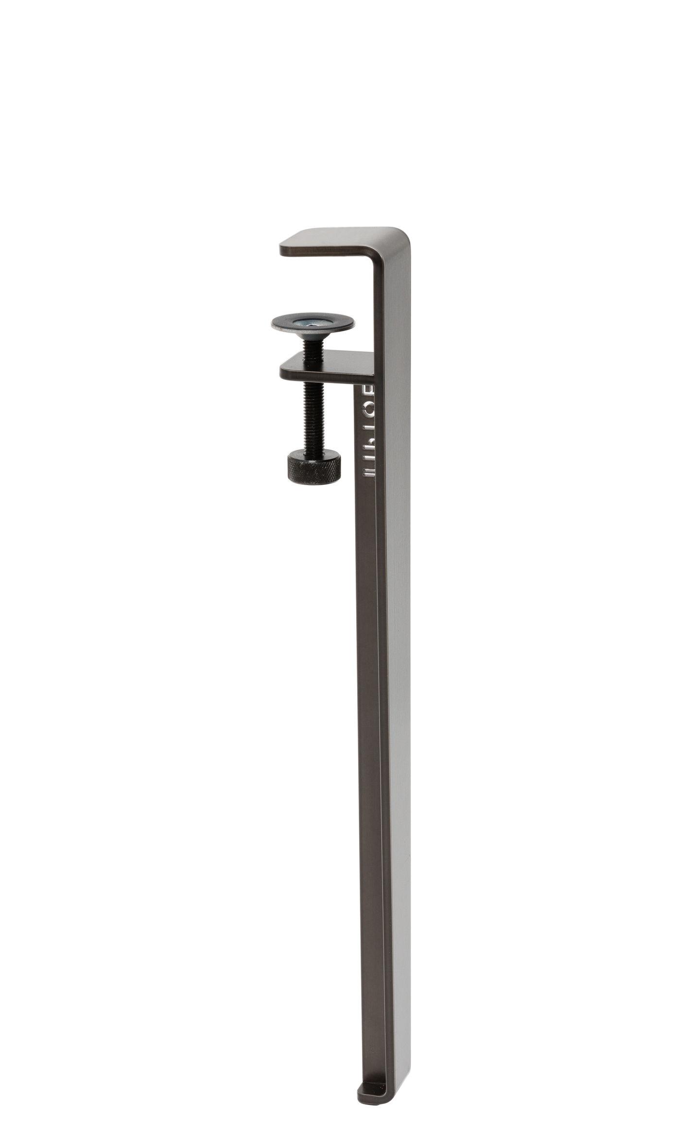 Mobilier - Tables basses - Pied avec fixation étau / H 43 cm - Pour créer tables basse & banc - TipToe - Acier patiné - Acier thermolaqué