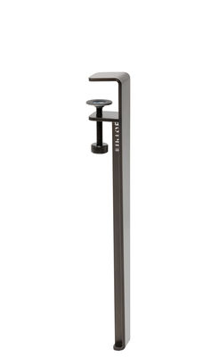 Image of Gamba con fissaggio a morsetto / H 43 cm - Per tavolino basso & panca - TipToe - Grigio/Metallo - Metallo