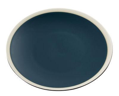Tableware - Plates - Sicilia Plate - Ø 26 cm by Maison Sarah Lavoine - Blue / White - Painted enameled stoneware