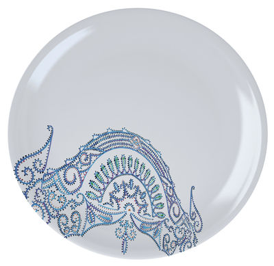 Tableware - Plates - The White Snow Luminarie Plate - Ø 27,5 cm by Driade - Blue - China