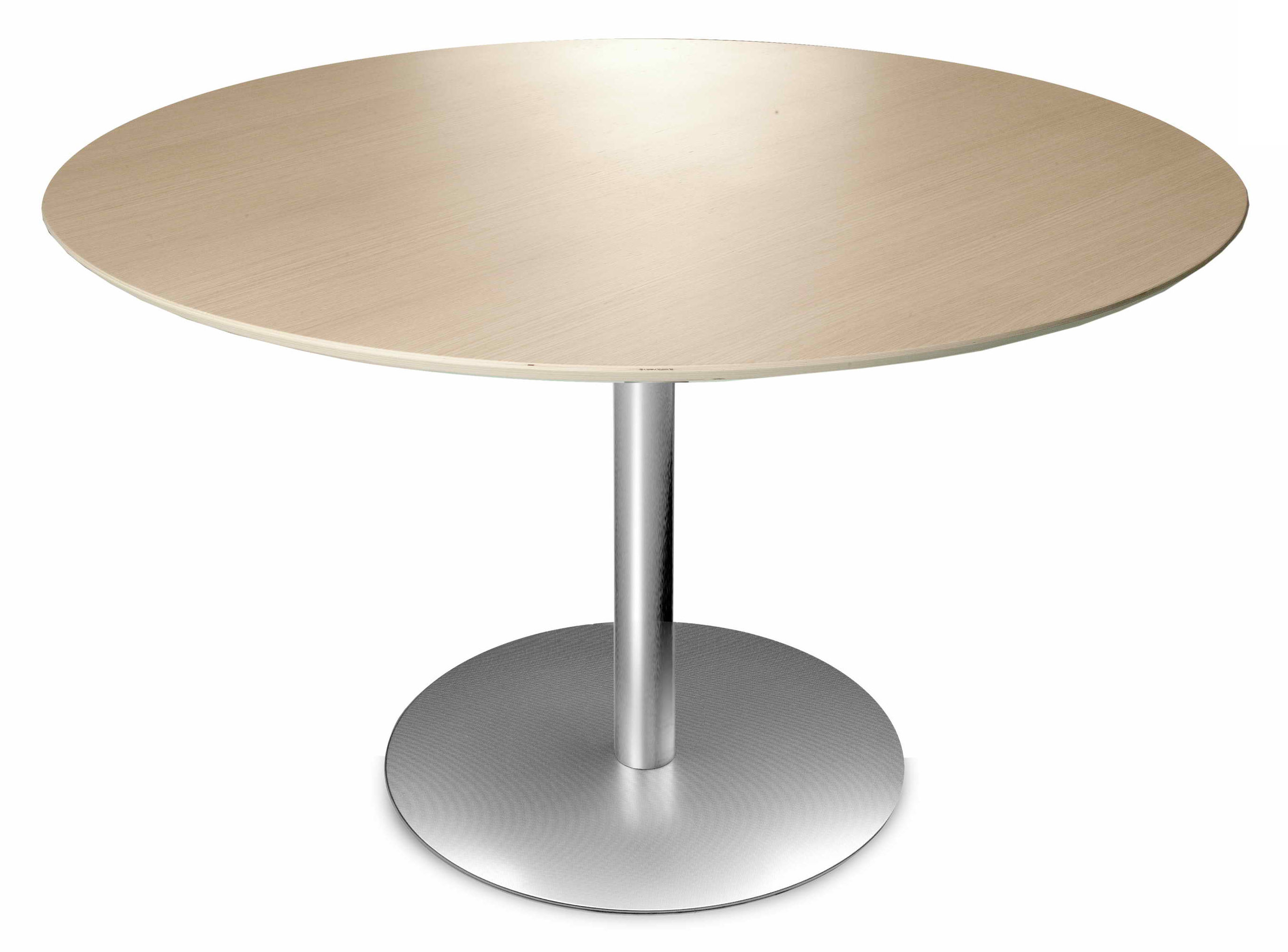 Natale - Ultra design - Rondo Runder Tisch Ø 90 cm - Lapalma - Gebleichte Eiche - gebleichte Eiche, rostfreier Stahl