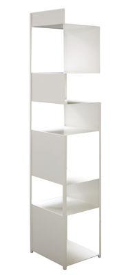 Arredamento - Scaffali e librerie - Scaffale Tito - / H 195 cm di Zeus - Bianco - Acciaio verniciato