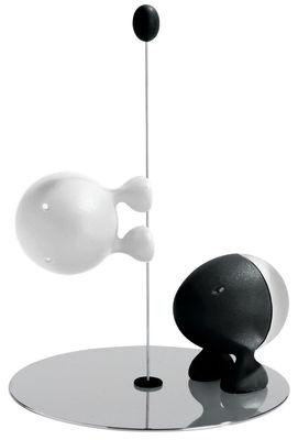 Portauova - Saliere e Pepiere - Set sale e pepe Lilliput di A di Alessi - Nero / Bianco - Resina termoplastica