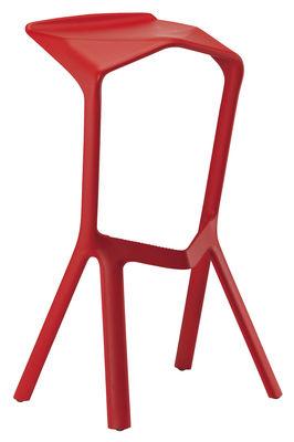 Image of Sgabello bar Miura di Plank - Rosso - Materiale plastico