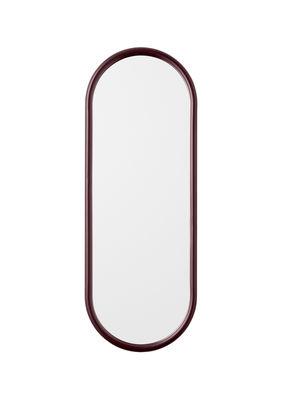 Interni - Specchi - Specchio murale Angui - / L 29 x H 78 cm di AYTM - Bordeaux - Ferro laccato, Vetro