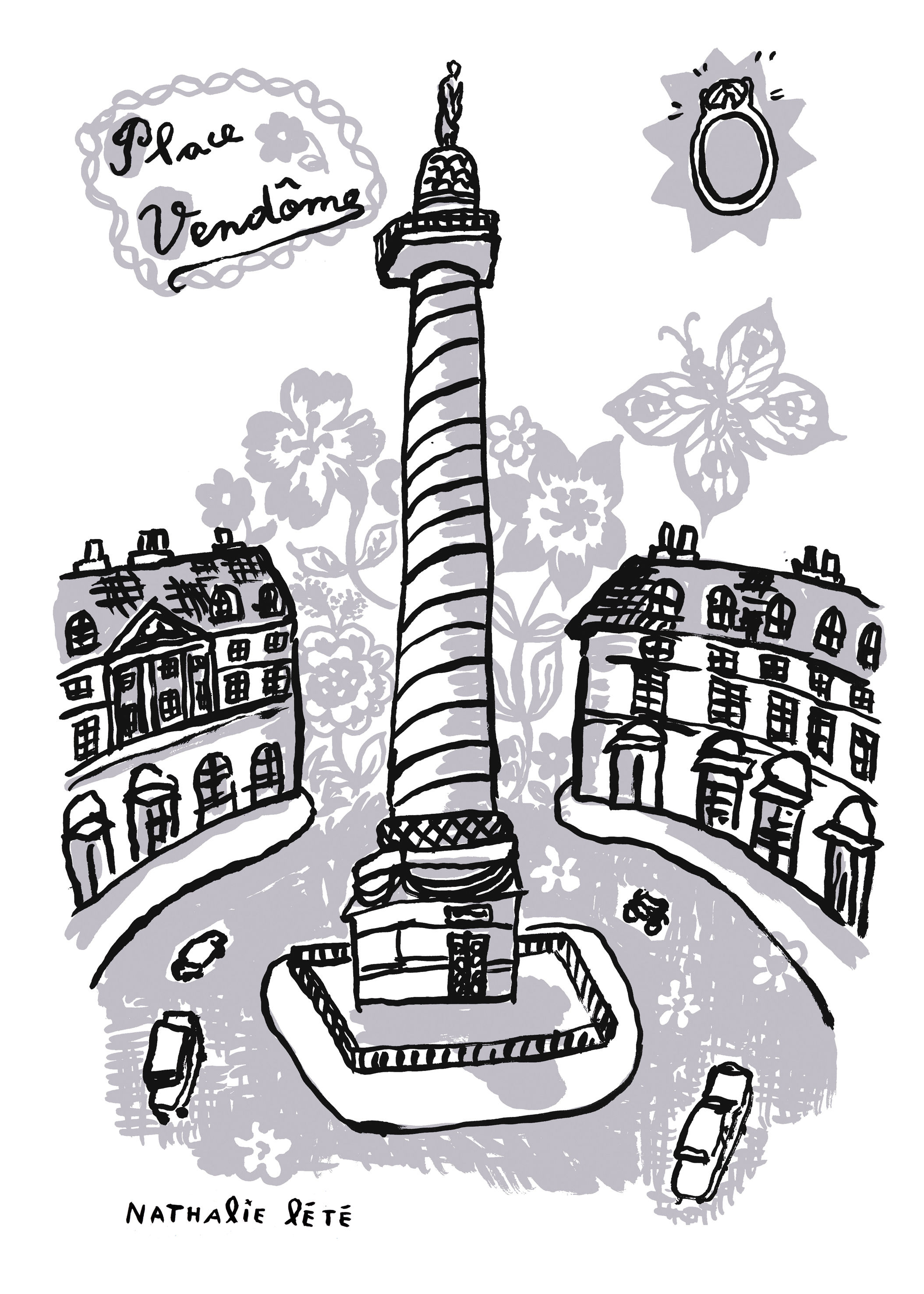 Decoration - Children's Home Accessories - Place Vendôme Sticker - 25 x 35 cm by Domestic - Grey - Vinyl