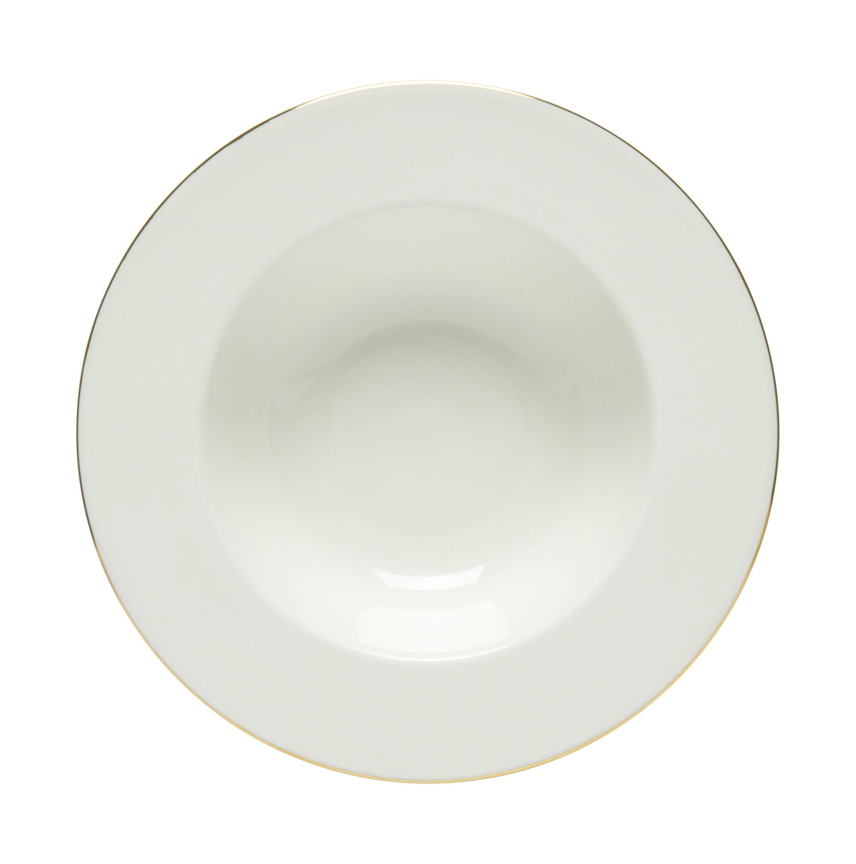Tischkultur - Teller - Oiva Suppenteller / Ø 20 cm - Ausgabe zum 10-jährigen Jubiläum - Marimekko - Oiva / Weiß und gold - Sandstein