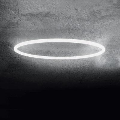 Luminaire - Suspensions - Suspension Alphabet of light Circular / LED - Ø 90 cm - Artemide - Ø 90 cm / Blanc - Aluminium, Méthacrylate
