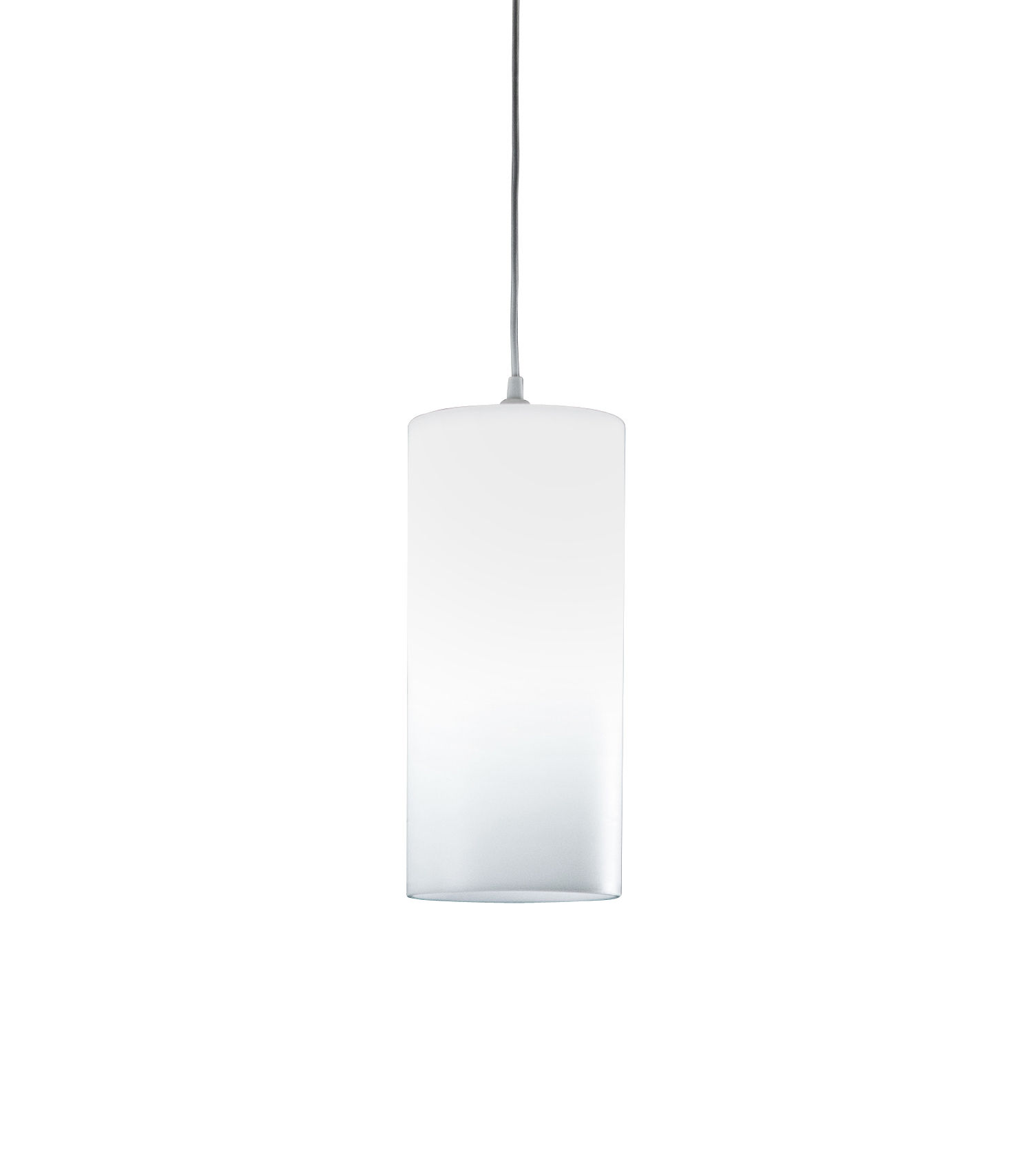 Luminaire - Suspensions - Suspension Tubo Small / H 40 cm - Stamp Edition - Small / Blanc translucide - Métal, Polypropylène