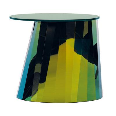 Table d'appoint Pli / H 48 cm - Métal & verre - ClassiCon vert en métal/verre