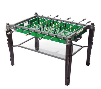 Furniture - Teen furniture - Offside Table football - Regular table football by Skitsch - Wengé (dark wood) - Green playground - Ivory & black players - Glass, Metal, Wenge