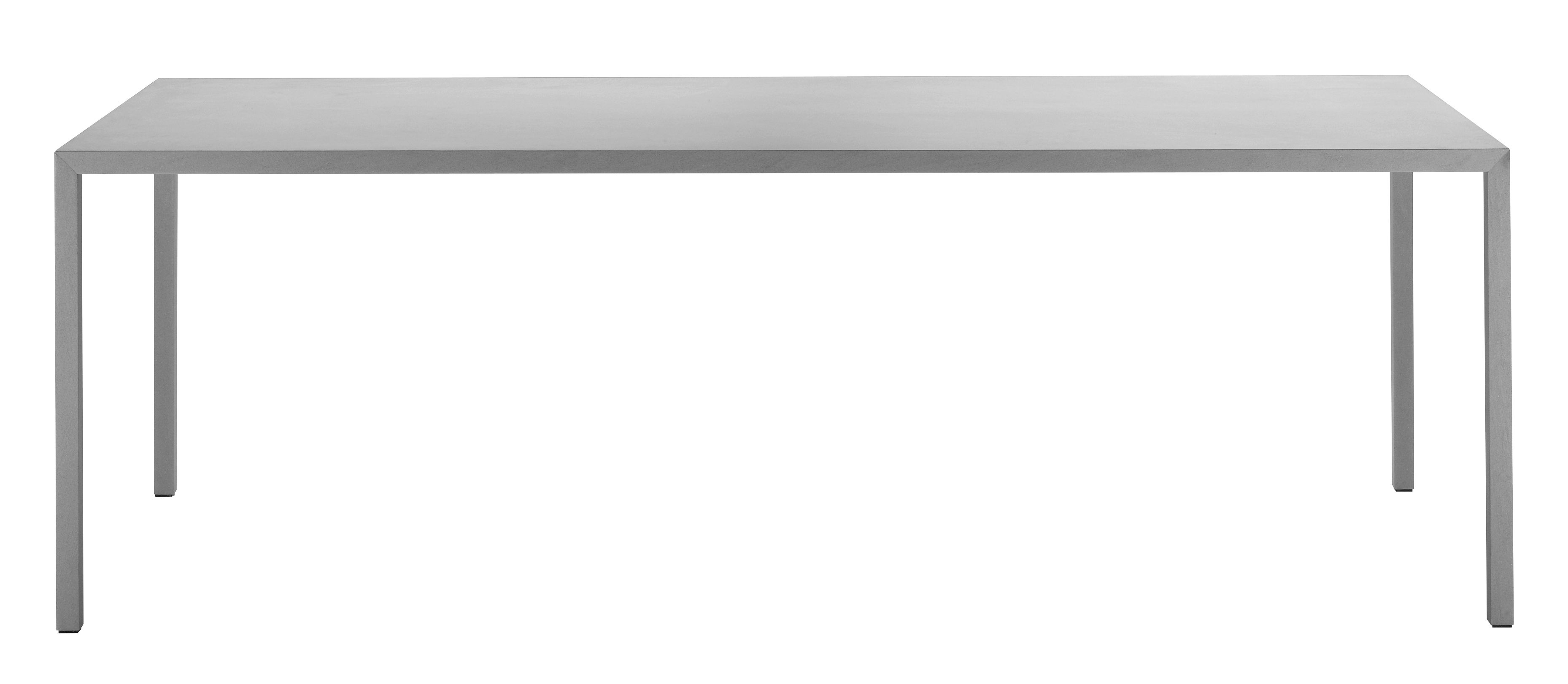 Mobilier - Tables - Table rectangulaire Tense Material / 90 x 200 cm - Pierre - MDF Italia - Pierre grise - Panneau composite, Placage pierre reconstituée