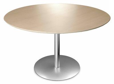 Natale - Ultra design - Table Rondo / Ø 90 cm - Lapalma - Chêne blanchi - Acier inoxydable, Chêne blanchi