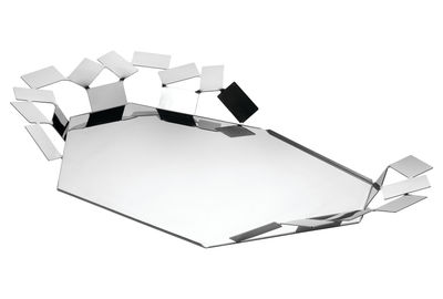 Tableware - Trays - La Stanza dello Scirocco Tray by Alessi - Polished steel - Polished stainless steel