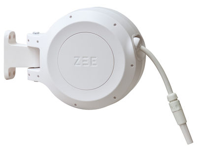 Tuyau d'arrosage Mirtoon 10m / Enrouleur automatique - Pistolet offert - Zee blanc en matière plastique