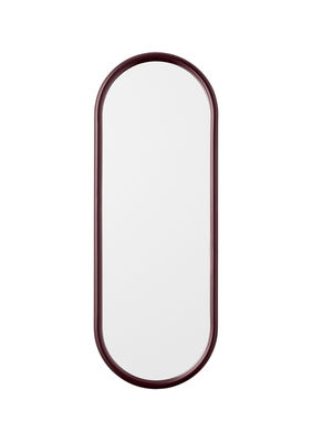 Decoration - Mirrors - Angui Wall mirror - / L 29 x H 78 cm by AYTM - Burgundy - Glass, Lacquered iron