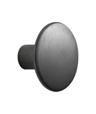Möbel - Garderoben und Kleiderhaken - The Dots Metal Wandhaken / Größe M - Ø 3,9 cm - Muuto - Schwarz - bemalter Stahl