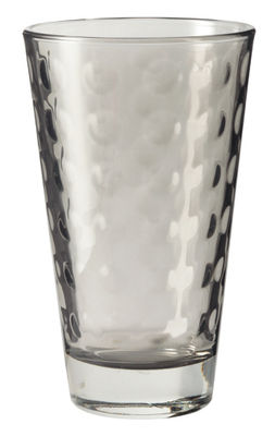 Tavola - Bicchieri  - Bicchiere long drink Optic / H 13 x Ø 8 cm - 30 cl - Leonardo - Grigio basalto - Vetro con pellicola