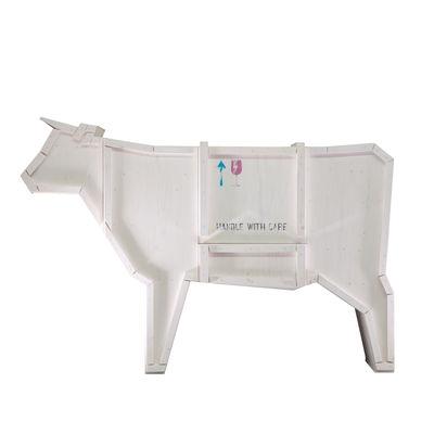 Mobilier - Commodes, buffets & armoires - Buffet Sending animals Vache 2.0 / L 225 x H 151 cm - Seletti - Blanc - Bois peint