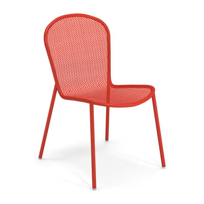 Furniture - Chairs - Ronda XS Chair - / L 51.5 cm - Metal by Emu - Red - Steel