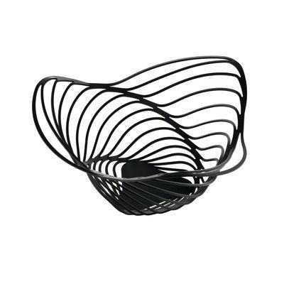 Corbeille Trinity / Ø 26 x H 12 cm - Alessi noir en métal